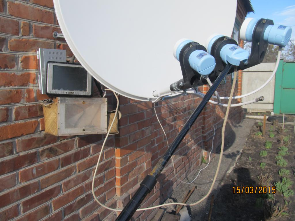 Установка спутникового телевидения своими руками 22