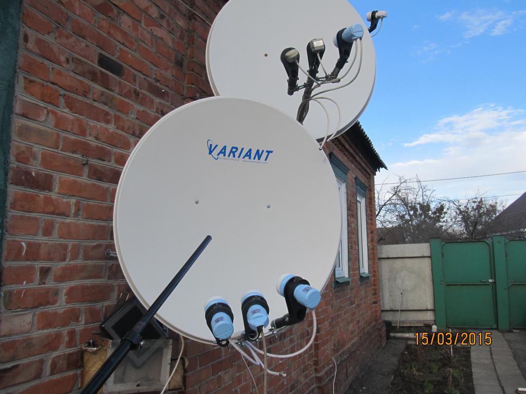 Установка спутниковой антенны в одессе своими руками 57